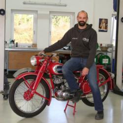 Aufbereitung Motorrad Puch